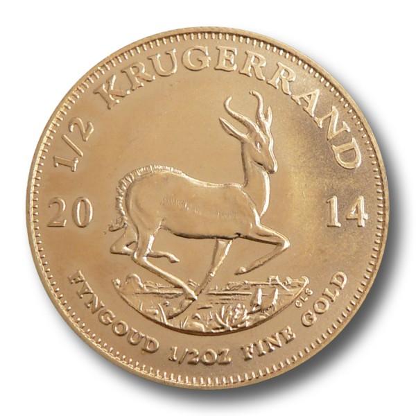 Krügerrand Südafrika 1/2 oz Goldmünze (div.)